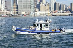 NYPD Boat Royalty Free Stock Image