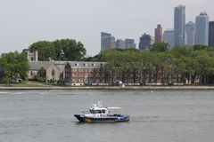 NYPD boat providing security during Fleet Week 2017 Stock Image
