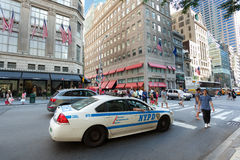 NYPD car in Manhattan Royalty Free Stock Images