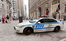 NYPD car in Manhattan, NYC. Royalty Free Stock Image