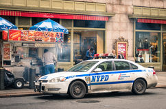 NYPD car parked at Grand Central Station in New York City Stock Image