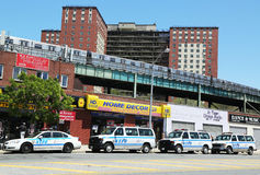 NYPD cars in Brooklyn, NY Stock Photography