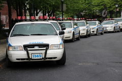 NYPD cars in Manhattan Royalty Free Stock Photos