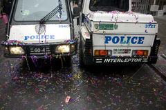 NYPD; Chinees Nieuwjaar Stock Foto's