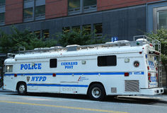 NYPD Command Post in the World Trade Center area of  Manhattan Stock Photography