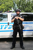 NYPD counter terrorism officer providing security Royalty Free Stock Photos
