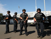 NYPD counter terrorism officers providing security. NEW YORK - AUGUST 30, 2016: NYPD counter terrorism officers providing security at National Tennis Center Stock Photo