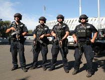 NYPD counter terrorism officers providing security. NEW YORK - AUGUST 30, 2016: NYPD counter terrorism officers providing security at National Tennis Center Royalty Free Stock Images