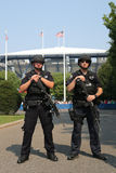NYPD counter terrorism officers providing security Stock Photography