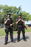 NYPD counter terrorism officers providing security Royalty Free Stock Images