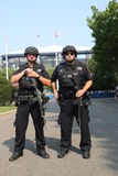 NYPD counter terrorism officers providing security Stock Images