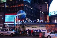 NYPD dans le Times Square Photo libre de droits