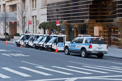 NYPD Electric Cars Royalty Free Stock Images