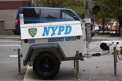 NYPD Emergency Service Generator Stock Images