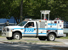 NYPD emergency service unit providing security near National Tennis Center during US Open 2013 Royalty Free Stock Images