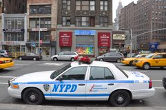 NYPD Ford Crown Victoria Police Car in NYC Royalty Free Stock Photography