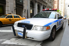 NYPD Ford Crown Victoria Police Car in NYC Royalty Free Stock Image