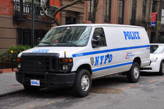 NYPD Ford E-Series Police Car in NYC Royalty Free Stock Image