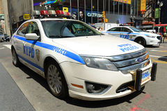 NYPD Ford Fusion Hybrid Police Car in NYC Royalty Free Stock Photos