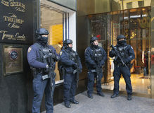 NYPD in front of Trump Tower in NYC Stock Photography