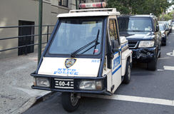NYPD GO-4 interceptor scooter parked Royalty Free Stock Images