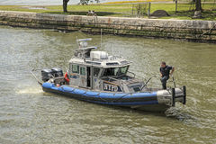 Police Boat New York City Royalty Free Stock Photo