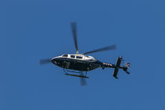 NYPD helicopter stock photo