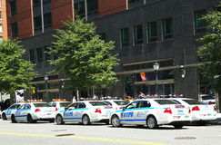 NYPD on high alert after terror threat in New York City Stock Images
