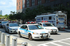 NYPD on high alert after terror threat in New York City Royalty Free Stock Photography