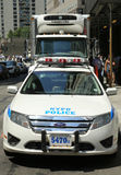 NYPD on high alert after terror threat in New York City Royalty Free Stock Photo