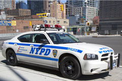 NYPD highway patrol car in Manhattan Stock Photography