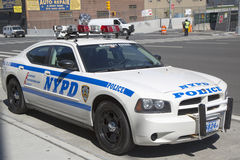 NYPD highway patrol car in Manhattan Stock Photo