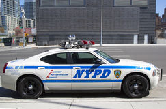 NYPD highway patrol car in Manhattan Royalty Free Stock Images