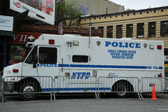 NYPD increase security at the gay rights landmark Stonewall Inn  in New York City Royalty Free Stock Images