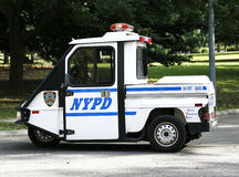NYPD Interceptor Scooter providing security near National Tennis Center during US Open 2013 Royalty Free Stock Images