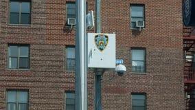 NYPD inwigilacji kamera w Rumienić się zdjęcie royalty free