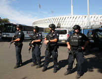 NYPD kontuaru terroryzmu oficery providing ochronę Zdjęcia Stock