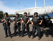 NYPD kontuaru terroryzmu oficery providing ochronę Fotografia Stock