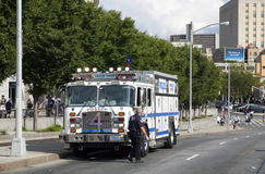 NYPD large emergency service vehicle Royalty Free Stock Images