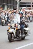 NYPD motorbike Royalty Free Stock Photos
