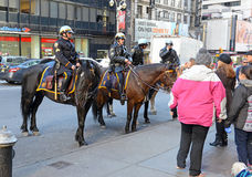 NYPD Mounted Police Unit on the streets of Manhattan. Stock Photo