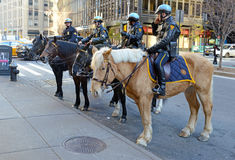 NYPD Mounted Police Unit on the streets of Manhattan. Stock Photography