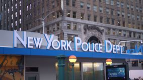NYPD New York Police Department at Times Square - NEW YORK, USA royalty free stock image