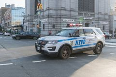 NYPD New York Police Department vehicle on the street. New York, USA - August 28, 2017: NYPD New York Police Department vehicle on the street Stock Photo