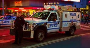 NYPD no Times Square, New York fotografia de stock