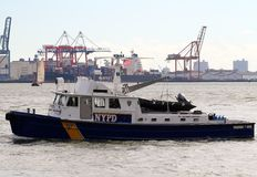 NYPD Patrol Boat #8 Stock Image