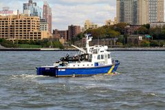 NYPD Patrol Boat #8 Royalty Free Stock Photos