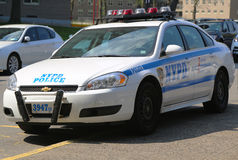 NYPD patrol car in Brooklyn, NY Stock Photos