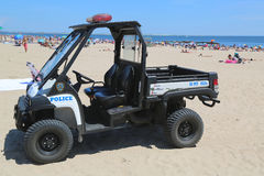 NYPD pojazd przy Coney Island plażą w Brooklyn Fotografia Stock