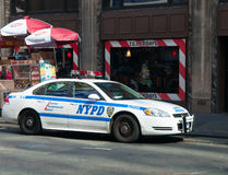 NYPD police car. Police car in new york USA Stock Images